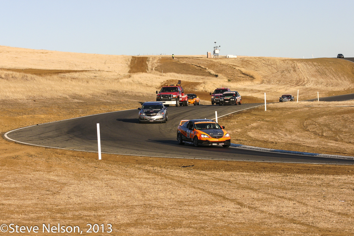 Late Entries. No, the tow trucks are not competitors. Then again, at Thunderhill you never know.