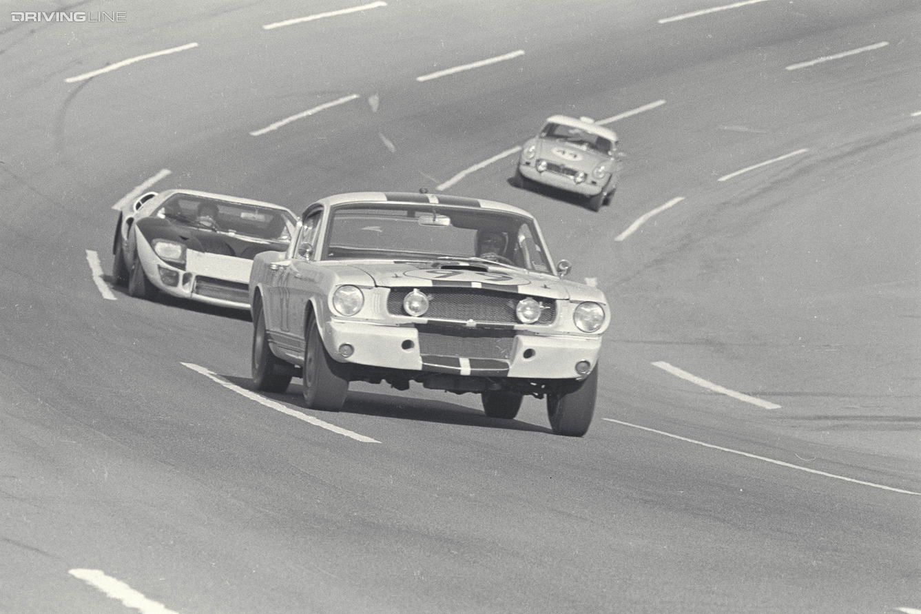 Daytona 24 Hour Race, Daytona, FL, 1966. Privately owned Shelby GT350 Mustang driven by Roger West/Richard Macon. CD#0777-3292-0443-9
