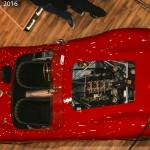 Looking down on a Ferrari